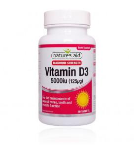 Vitamín D3 5000iu (125mcg) 60tbl