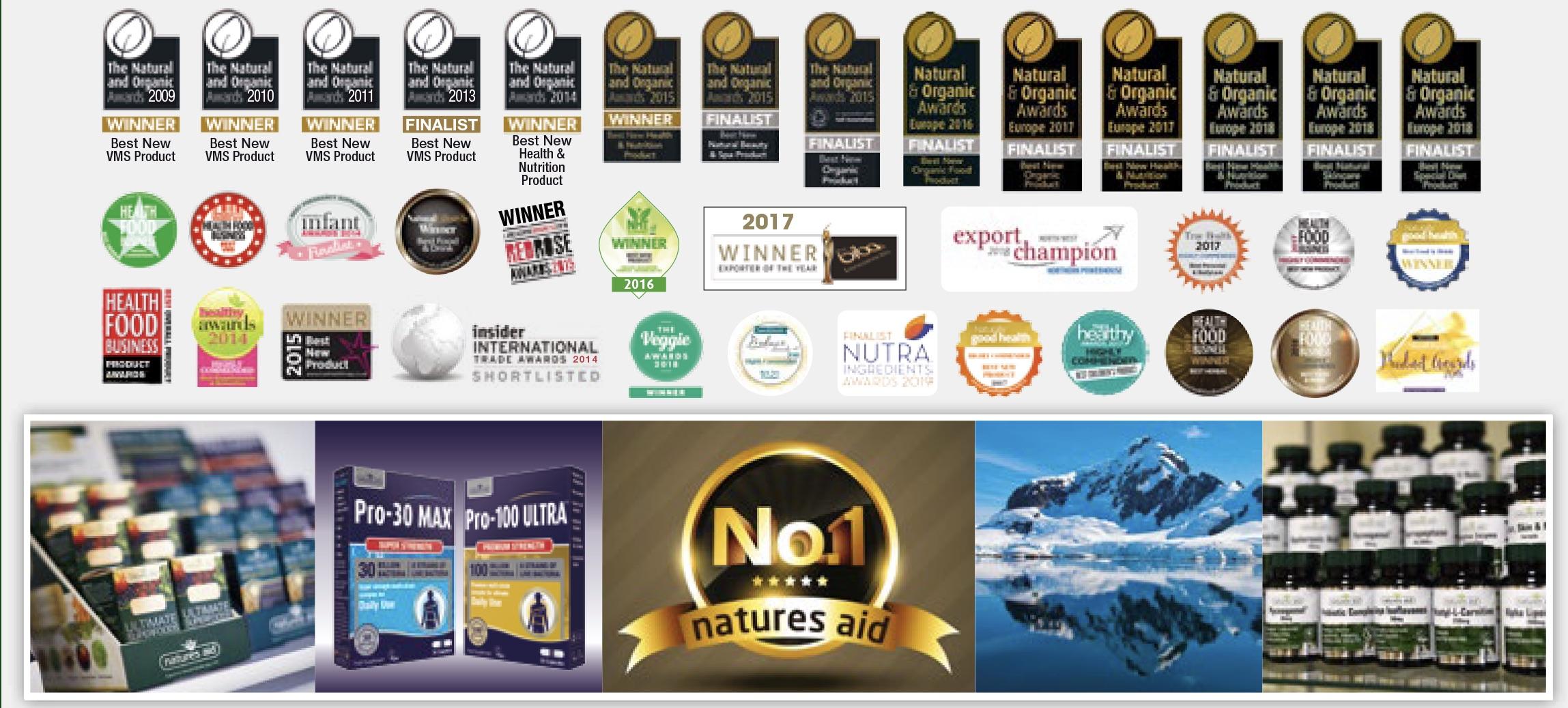 Ocenenie pre produkty Natures Aid