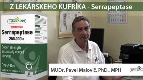 Serrapeptase s MUDR. PAVLOM MALOVIČOM, PHD., MPH