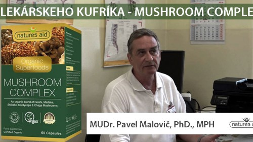 Mushroom Complex 5 liečivých húb s MUDR. Pavlom Malovičom, PHD., MPH -