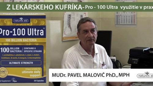 Natures Aid PRO - 100 ULTRA: Využitie ultrasilného probiotika v praxi lekára, MUDr. Pavel Malovič PhD., MPH