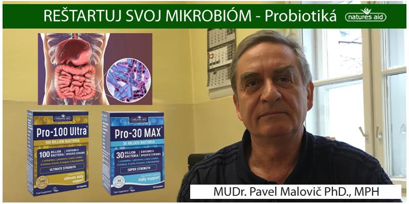 REŠTARTUJ SVOJ MIKROBIÓM- MUDR. PAVEL MALOVIČ PHD., MPH
